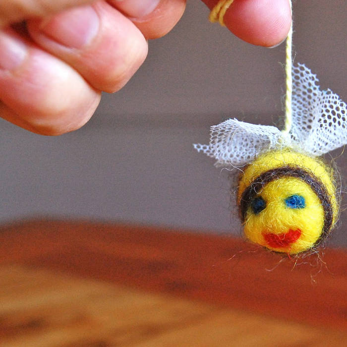 Bee on a string
